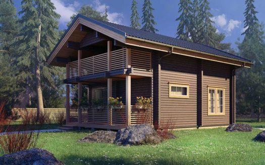 Проект дома из клееного бруса для постоянного проживания