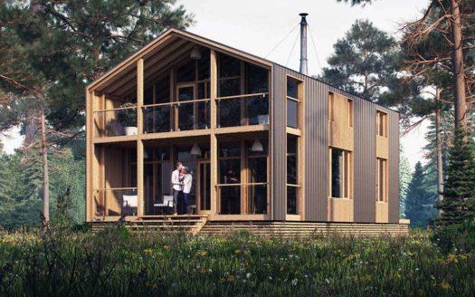 Модульный каркасный дом по проекту Туран