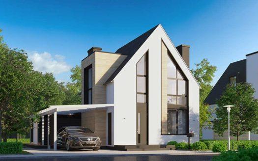 Небольшой современный дом Укшук