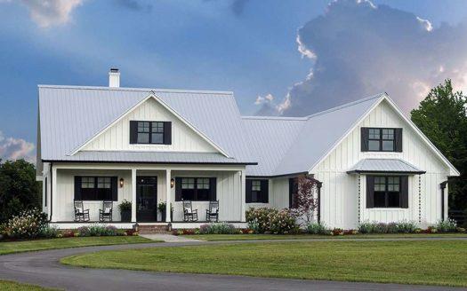 Одноэтажный дом в американском стиле