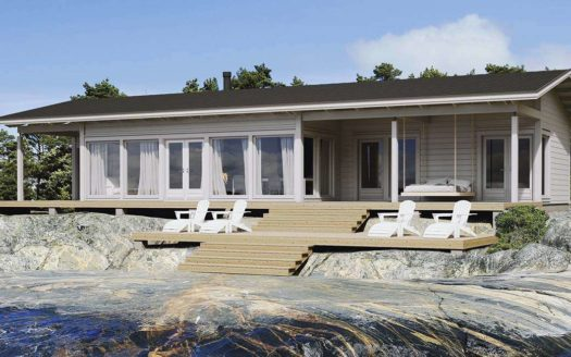 Панорамный проект каркасного дома