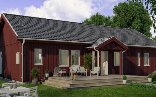Одноэтажный финский проект дома на 150
