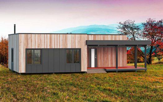 Проект одноэтажного дома в стиле хай-тек 2