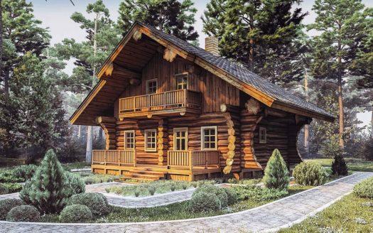 Проект рубленного дома из бревна