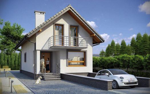 Проект дома на склоне с гаражом