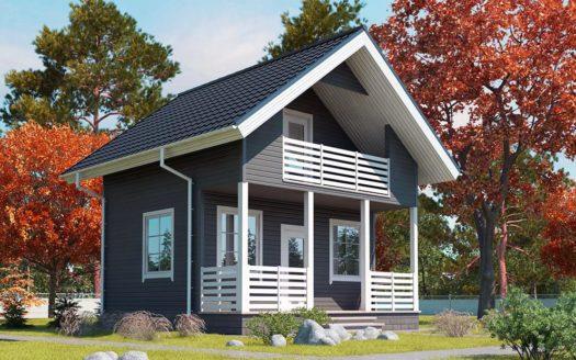 Проект дачного дома 6х6 с мансардой