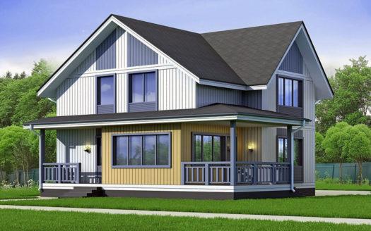 Проект дома 8 на 8 из СИП панелей