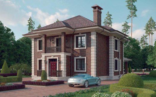 двухэтажный дом в английском стиле