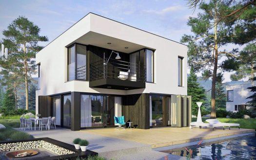 проект двухэтажного хай тек дома