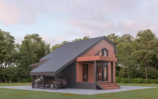 Современный проект загородного дома