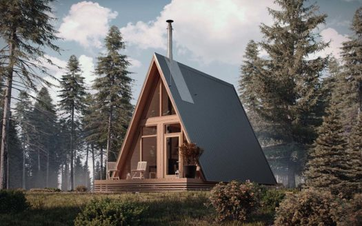 модульный дачный дом