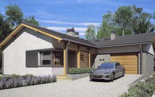 одноэтажный угловой дом
