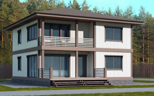 проект дома из пеноблоков 2 этажа