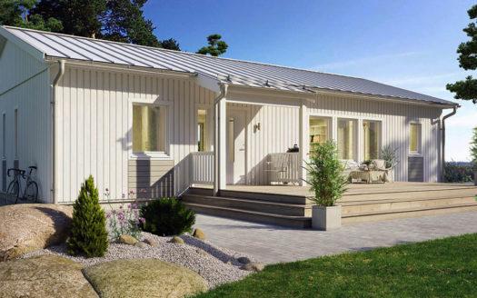 проект финского одноэтажного дома до 100