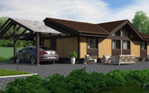 Проект дома из пеноблоков до 100