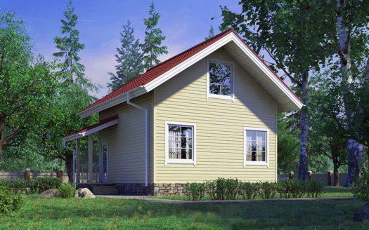 проект дачного дома 6х6
