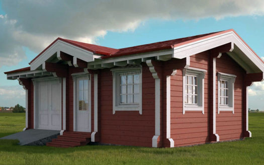 проект дачного дома из бруса