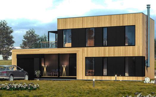 проект двухэтажного современного дома