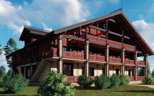 проект гостиницы 3 этажа