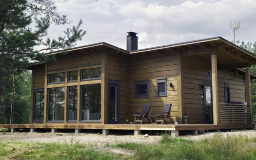 проект односкатного каркасного дома