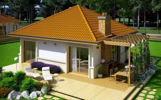 проект одноэтажного дачного дома