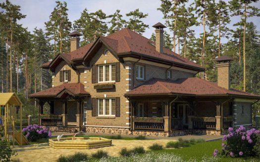 кирпичный дом в английском стиле