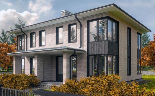 Проект двухэтажного дуплекса Софийск