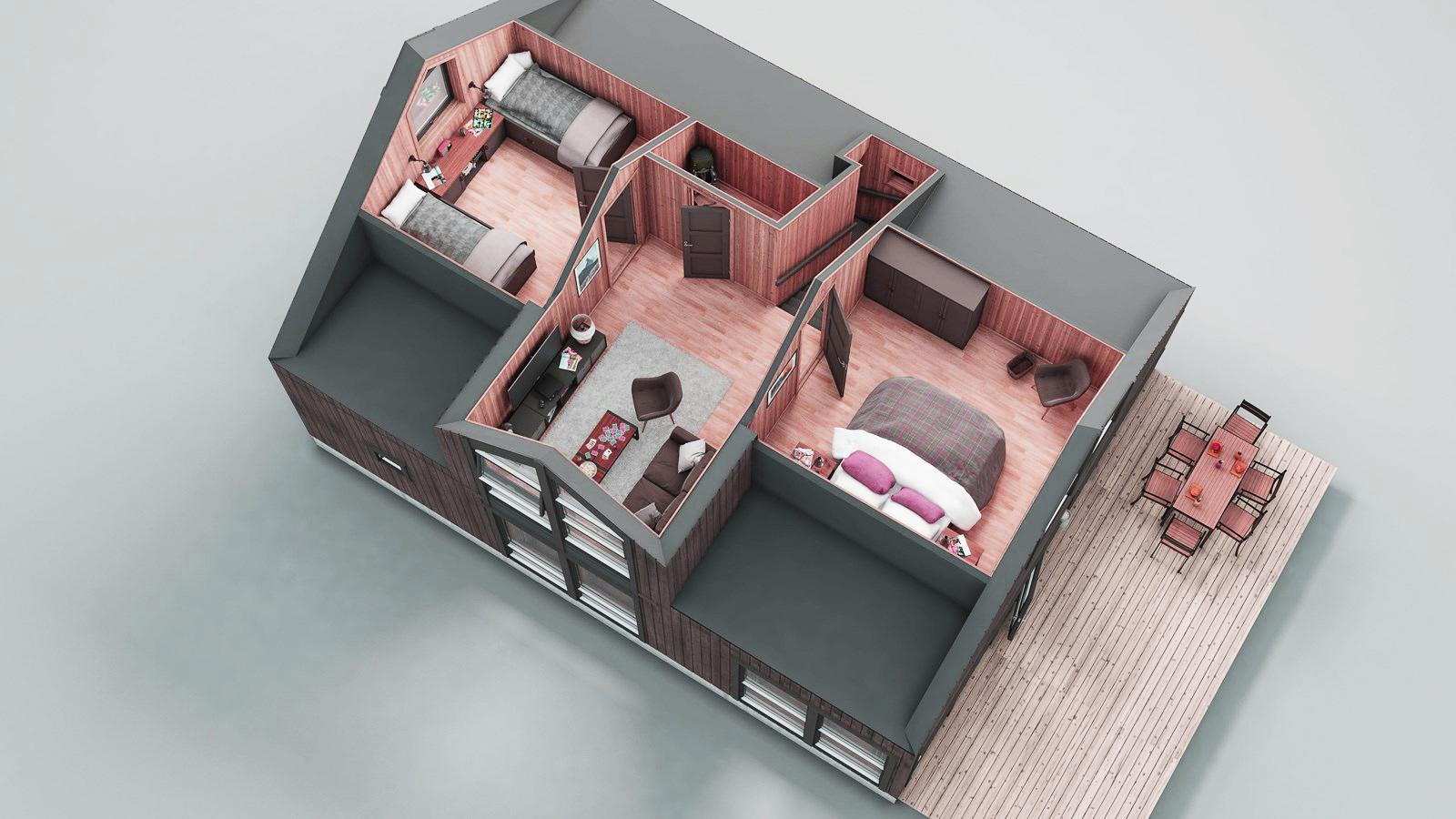 3D модель второго этажа