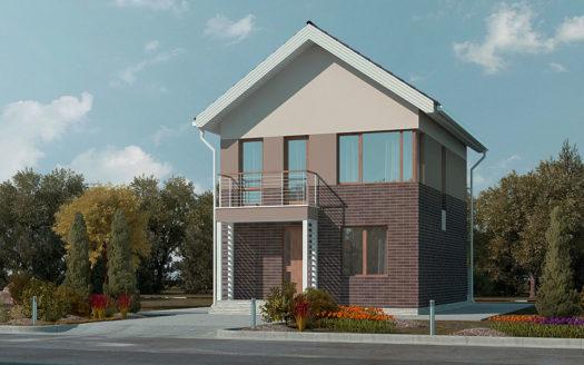 Проект дома с мансардой для узкого участка Стародуб