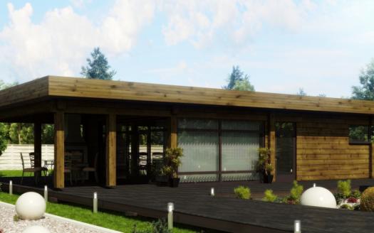 Проект бани с панорамными окнами Тужар