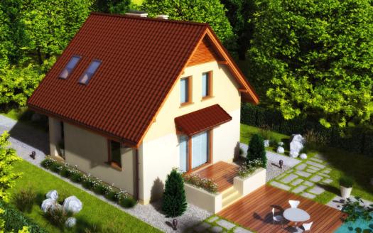 Проект дачного дома из СИП панелей Береск