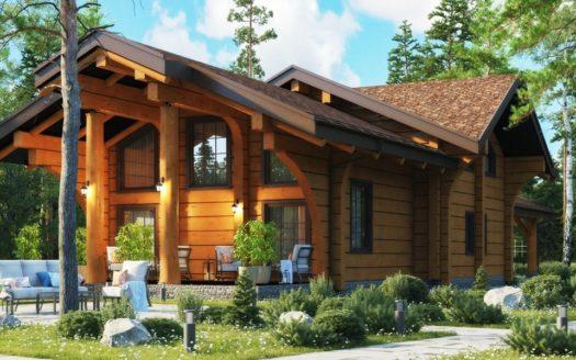 Проект загородного дома в стиле шале Кантемировск