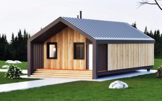 Проект модульного дома хай тек Пилипец