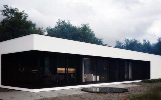 Проект одноэтажного дома хай тек Чермалык