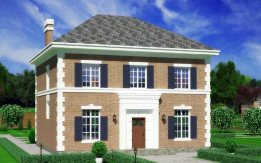 Проект дома в английском стиле из кирпича Колчестер