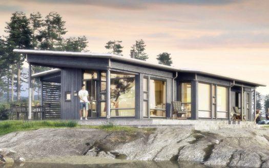 Проект сип дома с плоской крышей Святогорск