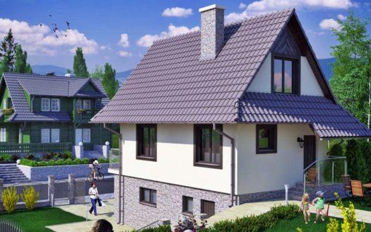 Проект узкого дома из газобетона Алчевск